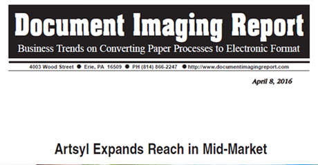 Document Imaging Report Highlights Artsyl's Mid-Market Expansion